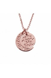 I Love You To The Moon And Back Necklace Rose Gold