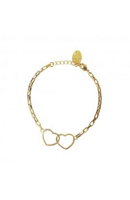 Kismet Heart Bracelet Gold