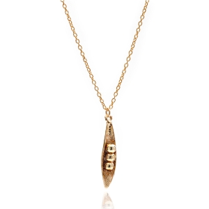 Peas In A Pod Necklace Gold