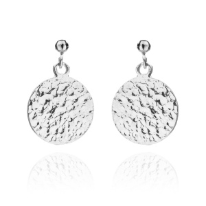 Ancient Coin Earrings Silver