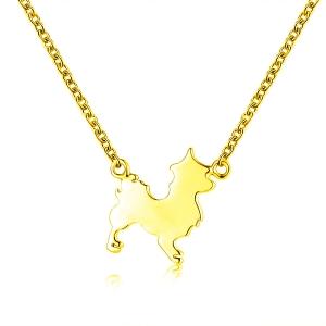 Dog Necklace Gold