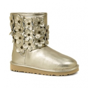 UGG Youth Classic Short Flora 1010291  Soft Gold