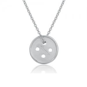 Cute As A Button Necklace Silver