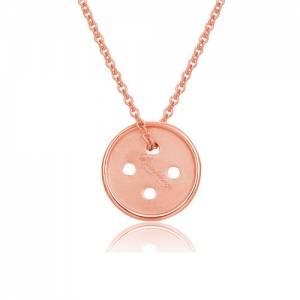 Cute As A Button Necklace Rose Gold