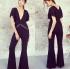 Cut Out Jumpsuit Black