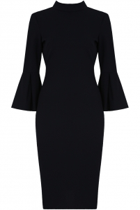 3/4 Bell Sleeve Midi Dress Navy
