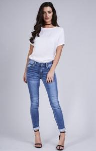 Slim Fit Turn Up Jeans