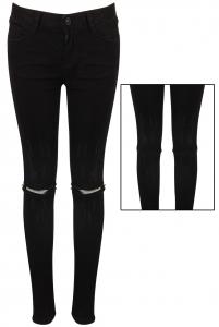 Zip Knee Jeans Black