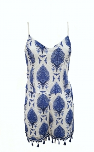 Patterned Playsuit Blue