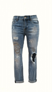 Skull Detail Jeans