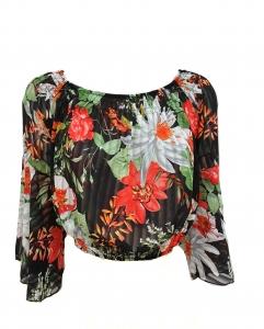 Chiffon Floral Print Gypsy Top
