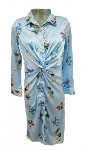 Floral Pinstripe Shirt Dress