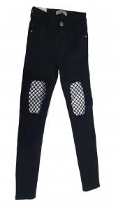 Net Knee Jeans Black