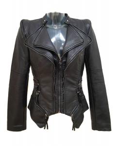 Zip Detail Jacket Black