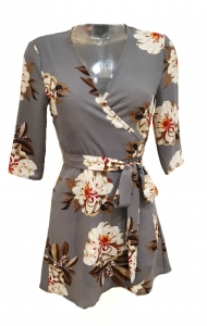 Floral Wrap Mini Dress