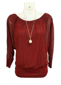 Long Sleeve Necklace Top
