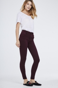 Toxik 3 High Waist Soft Skinny Jeans Wine