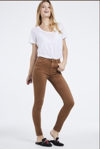 Toxik 3 High Waist Soft Skinny Jeans Tan