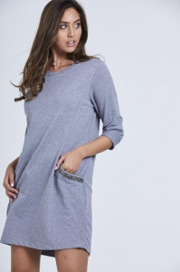 Crystal Pocket Tunic Dress