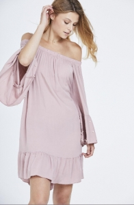 Pearl Sleeve Off The Shoulder Dress